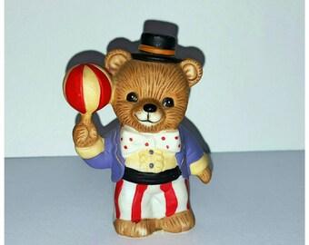 Circus Ringmaster Bear Figurine - HOMCO Series #1449 - Vintage Porcelain