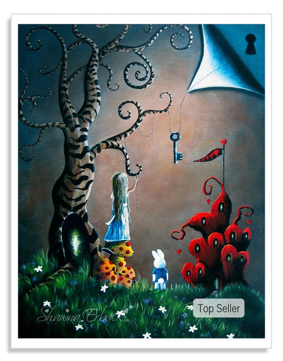 Alice in wonderland art prints by erback 8x10 by shawnaerback for Best way to sell art prints