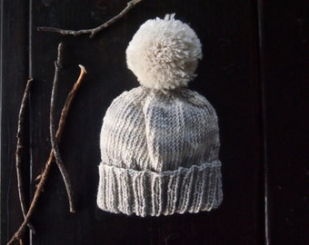 Baby Winter Hat | Hand Knit Baby Hat | Winter Hat | | Ivory Muted Toddler Hat | Ready to Ship