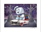 Ecto-1 Pedal Car 8 x 10 Signed Print