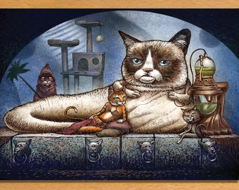 """Grumpy the Hutt Greeting Card- 5"""" x 7"""" greeting card with envelope- blank inside"""