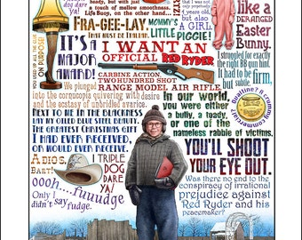 You'll Shoot Your Eye Out- A Christmas Story tribute- signed print