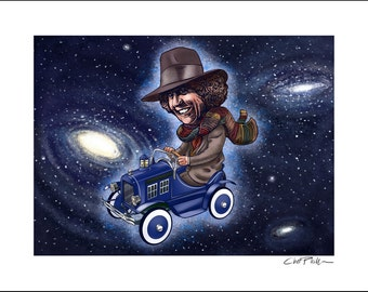 Dr. Who Pedal Car- 11 x 14 Signed Print
