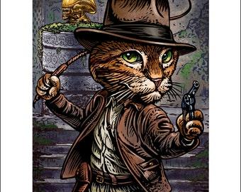 Indiana Jonesy: Raiders of the Lost Xenomorph-  11 x 14 signed print