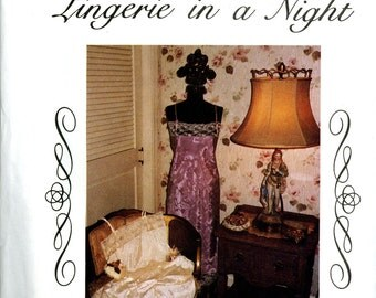 The Cutting Edge Lingerie in a Night Half Slip Camisole Chemise Size 6 8 10 12 14 16 18 Uncut Vintage Sewing Pattern 1990