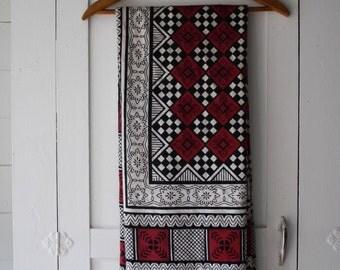 vintage cotton tablecloth textile