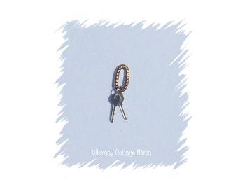 Dollhouse Miniature Keys - 1/12th Scale