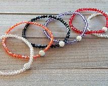Swarovski Crystal Bracelet Pave Crystal Ball & Faceted Beads Stackable Skinnies Line