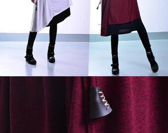 Blue Lotus - idea2lifestyle tunic dress / layered cotton tunic dresses / asymmetrical yoga dress / minimalist dress / hippie dress (Q1706)