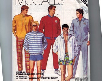 1980s Vintage Sewing Pattern Mccalls 3363 Mens Track Suit Jacket Shorts Pants Size Mens Medium Chest 38 40 1980s 1987