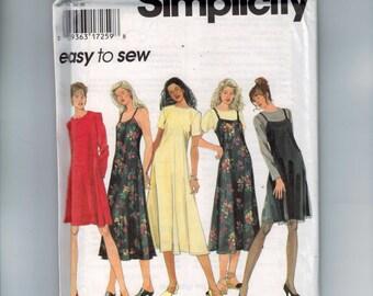 1990s Vintage Misses Sewing Pattern Simplicity 9791 Easy Misses and Petite Jumper Dress Slip Dress MSize 4 6 8 Bust 29 30 31 32 UNCUT
