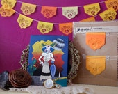 Dia de Los Muertos - Day of the Dead - Papel picado Mexican banners - Limited Edition