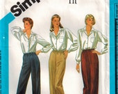 Plus Size Pants Vintage Sewing Pattern Elastic Waist Straight Leg Pants Proportioned Sizing Simplicity 6519 Size 20 Waist 34 Personal Fit