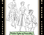 Haslam Dresscutting Book Spring Summer Autumn & Winter No. 33 1950's Vintage Sewing Pattern E-book with 31 Pattern Draftings