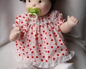 Dolls, Cloth Dolls, Soft Sculpture doll, Baby doll, Collector doll, Doll with 2 outfits, Art Doll, Rag Doll, Valentine's Day, Ready 2 ship