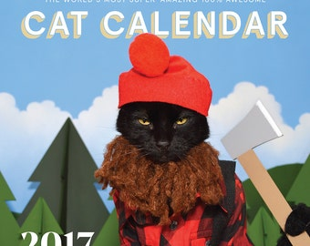 2017 World's Most Super-Amazing 100% Awesome Cat Calendar