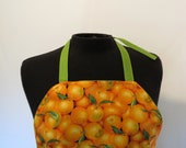 Full Apron - Reversible - Oranges and Bright Green