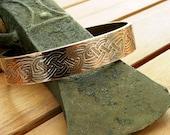 Celtic copper cuff bracelet   rustic copper cuff   copper cuff bracelet   wide cuff   12 mm   men's cuff   women's cuff   made to order