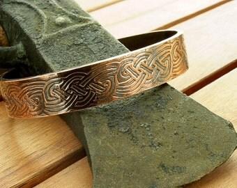 Celtic copper cuff bracelet | rustic copper cuff | copper cuff bracelet | wide cuff | 12 mm | men's cuff | women's cuff | made to order