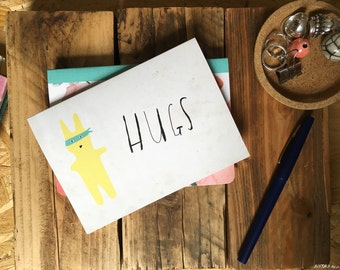 SALE: HUGS greeting card cc142