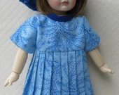 Bleuette Dress GL Flora 1925 Beret and Leather T-Strap Shoes
