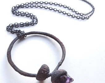 Autumn's Ghost ~ Amethyst necklace ~ one of a kind