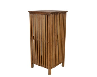 1900s Teak Hamper, Rustic Bohemian Decor, Storage Container