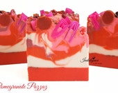 Soap-Pomegranate Pazzaz Artisan Vegan Soap/Handmade/Cold Process Soap/Valentine Soap