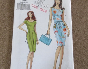 Very EASY Sewing Pattern 4 6 8 10 Wiggle Straight Semi Fitted Princess Seams Summer Dress Sleeveless Uncut Factory Folds 2006