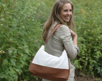 Leather Hobo Bag - Handmade Leather Handbag - Large Ladies Shoulder Bag -