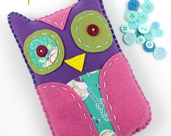Felt Owl Stuffed Animal Hand Sewing Embroidery Beginner PDF Pattern