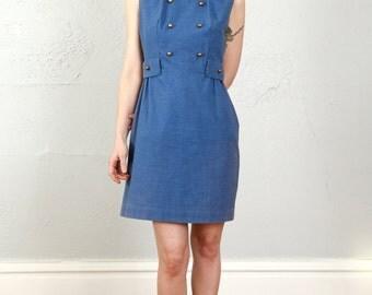 SALE- 1960s Blue Dress