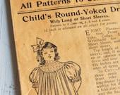 Early 1900s Paris Pattern Girls Antique Dress Sewing Pattern Paris Modes Company No. 1911 Envelope