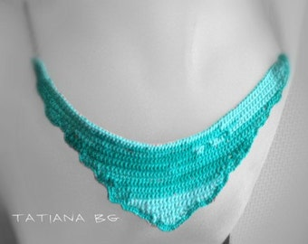 Free form crochet necklace Very own piece of ocean