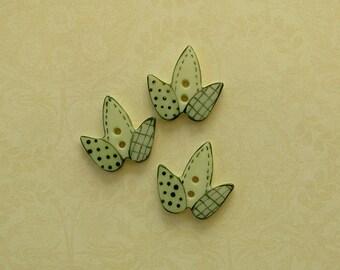 Stitched Leaf set of 3
