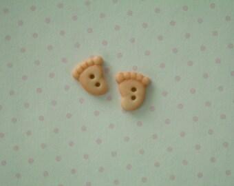 Baby Feet Buttons