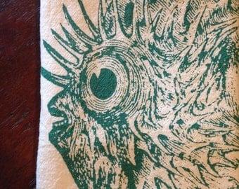 Blow Fish Fish Kitchen Towel