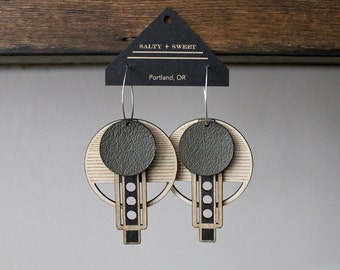 Laser cut earring | WRIGHT: Olive