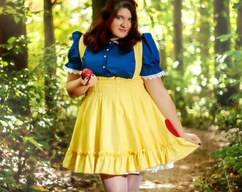 Plus size Snow White Blouse - Adult Halloween Costume - Victorian with Peter Pan Collar -Custom to Your Size 2X-above