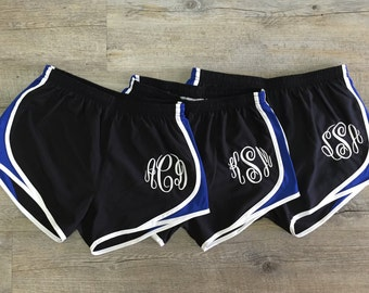Monogrammed Exercise Running Shorts  - Women & Girls Sizes