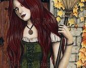 Season of the Witch 5 x 7 Print Gothic Autumn Halloween Art