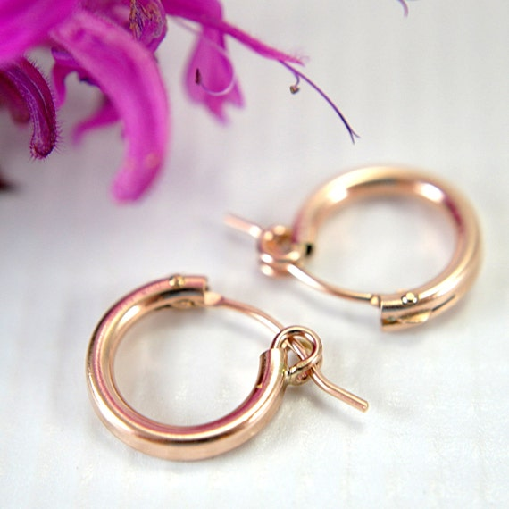 small hoop earrings for second 12mm tiny 14k gold filled hoop earrings half inch 9675