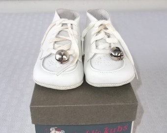 50s 60s Vintage Kiddie Kubs Boy's or Girl's Baby Shoes in Original Box 6 to 12 Months