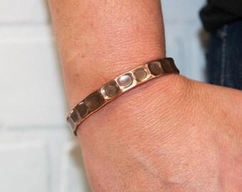 SALE medium recycled copper cuff, copper jewelry, metal, recycled, hammered metal, hammered copper, copper bracelet, stacylynnc, handmade