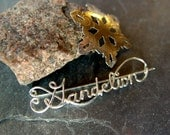 PIN, Sterling Silver, Custom, Word, Name, BROOCH