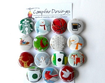 STARBUCKS Magnets Holiday Christmas Refrigerator Magnets