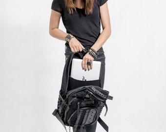 Utilitarian Backpack All black