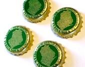 Beer Magnets, Bottle Cap Magnets, New Glarus Brewing Bottle Cap Magnets, Bar Magnets, Four Beer Bottle Magnets, Wisconsin Beer Magnets