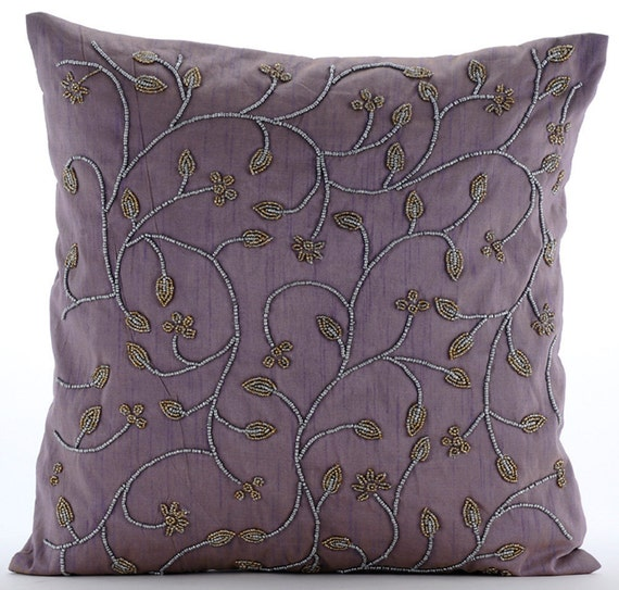 Handmade Purple Throw Pillows Cover For Couch