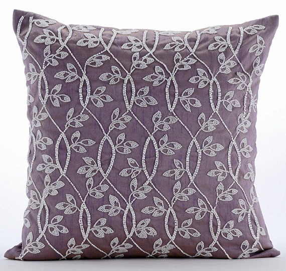 Throw Pillows Lowes : Luxury Purple Throw Pillow Covers 16x16 Silk